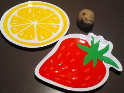 Fruit Dessert Plates from Wal-Mart