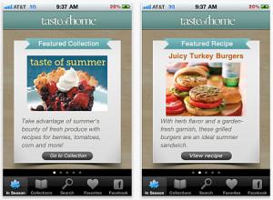 The Taste of Home Mobile App