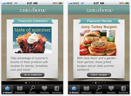 Taste of Home App