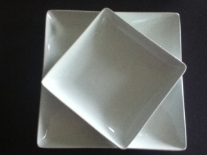 Beautiful Square White Dishes from Target