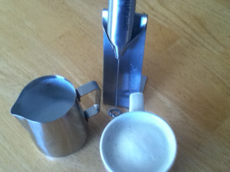 Milk Frother and Stainless Steel Espresso Pitcher