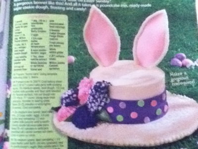 Easter Cake in the Woman's World April 9, 2012 Issue