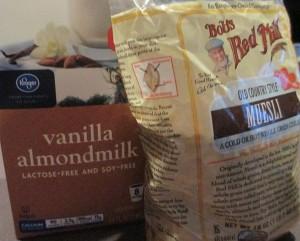 Bob's Red Mill Muesli and Vanilla Almond Milk