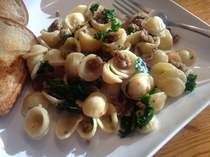 Orecchiette with Sausage and Kale