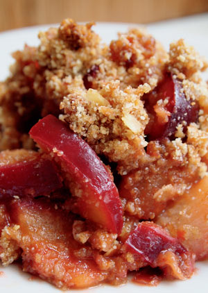 Plum and Pear Crumble Recipe