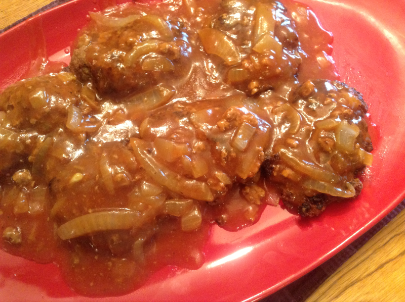 Salisbury Steak (Recipe from 5 in 5)