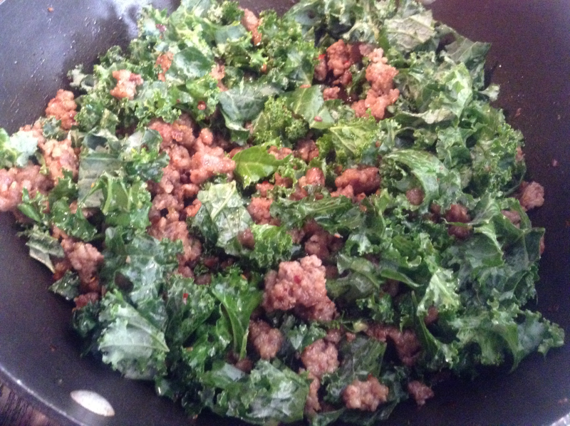 Spicy Sausage and Kale