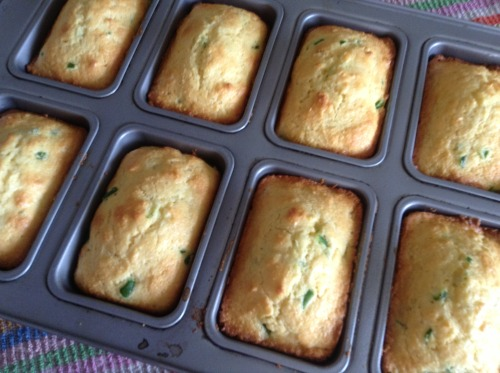 Jalapeno Cornbread Individual Loaves