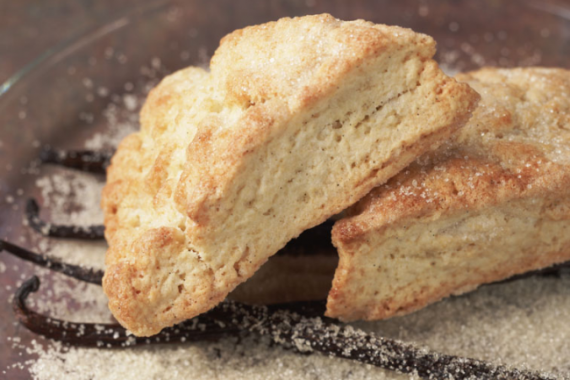 Vanilla Sugar-Crusted Scones