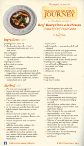 The 100 Foot Journey Recipe