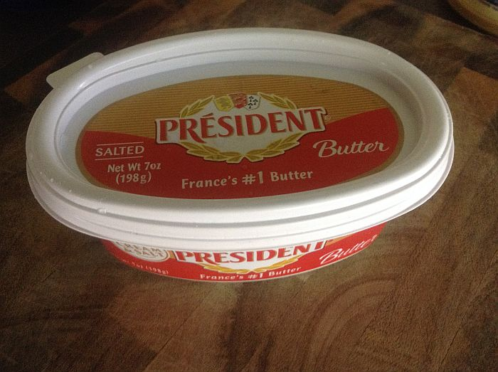 President Salted Butter in a Tub