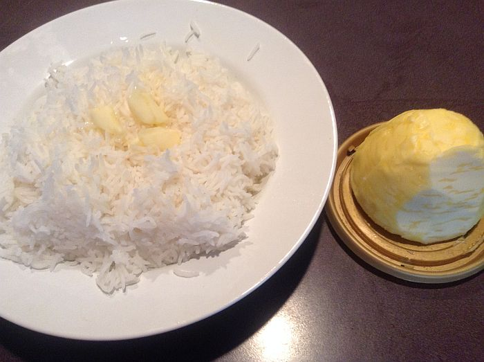 President Sea Salt Butter with Steamed Rice