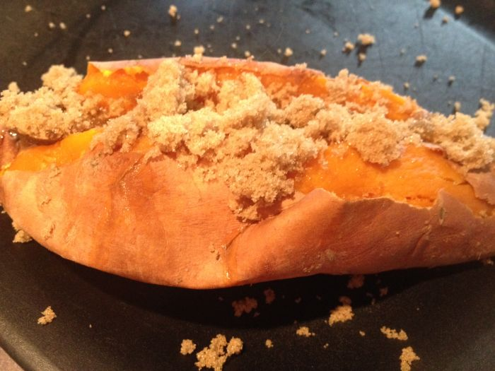 Sweet Potato with Butter and Brown Sugar