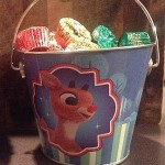 Rudolph candy pail