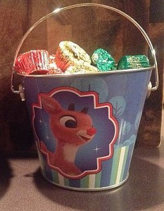 Bargain Bin Gold! – Rudolph the Red-Nosed Reindeer Pails from Target