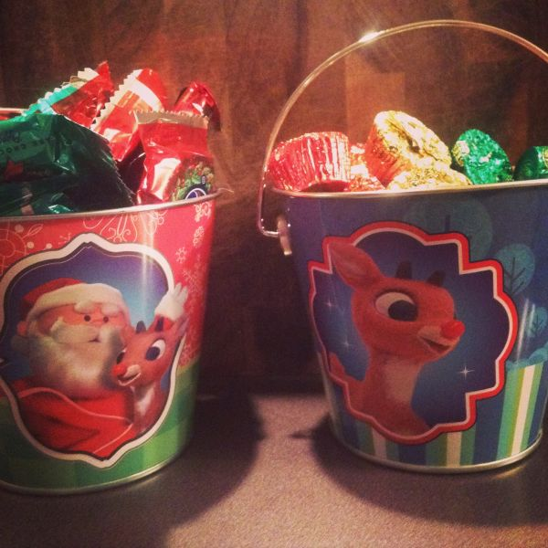 Rudolph the Red-Nosed Reindeer Pails