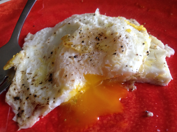 Fried Eggs with Pasolivo Citrus Olive Oil