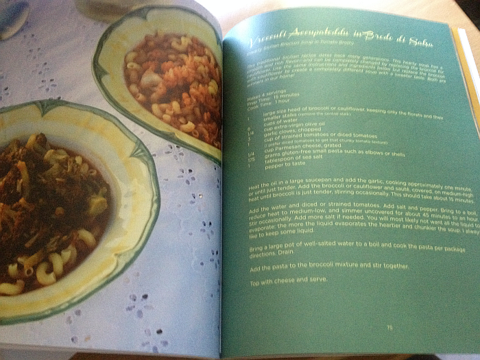 Going Against the Grain Italian Style Cookbook