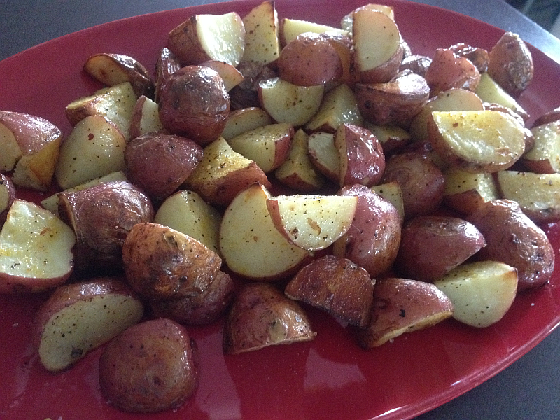 Roasted New Potatoes with Pasolivo Rosemary Olive Oil