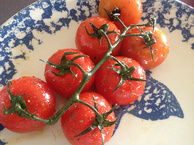 Roasted Tomatoes with Pasolivo Rosemary Olive Oil