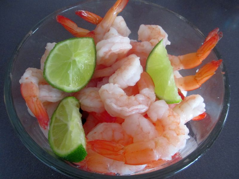 Shrimp with Limes