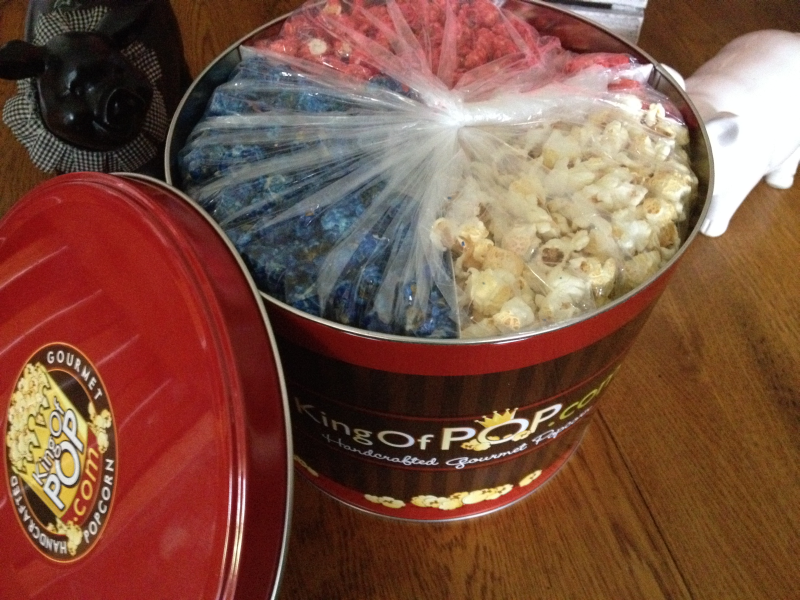 King of Pop Gourmet Red White and Blue Popcorn