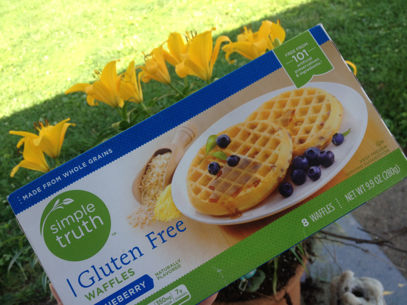 Simple Truth Frozen Gluten Free Blueberry Waffles