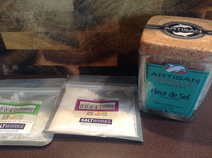ArtisanSalt Company Fleur de Sel and Samples