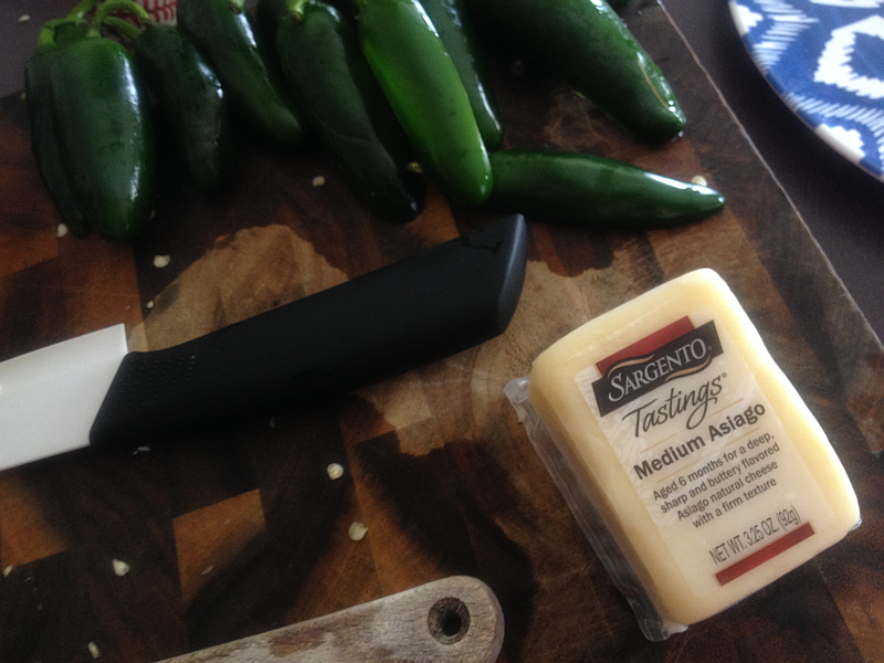 Jalapenos and Asiago