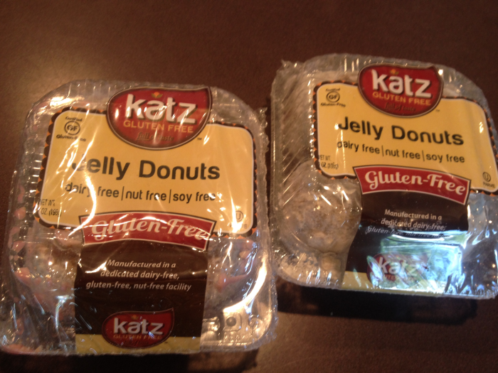 KATZ Gluten Free and Dairy Free Jelly Donuts