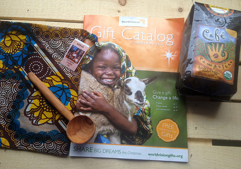 World Vision's Gift Catalog , Handcrafted Gifts, and Cafe Campesino Coffee
