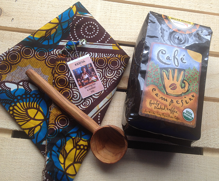 World Vision's Handcrafted Gift Set and Cafe Campesino Coffee