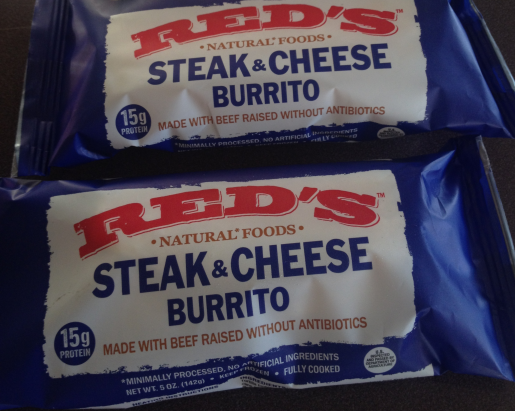 Red's All Natural Steak and Cheese Burrito