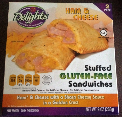 Delights Gluten Free Stuffed Sandwiches Ham and Cheese