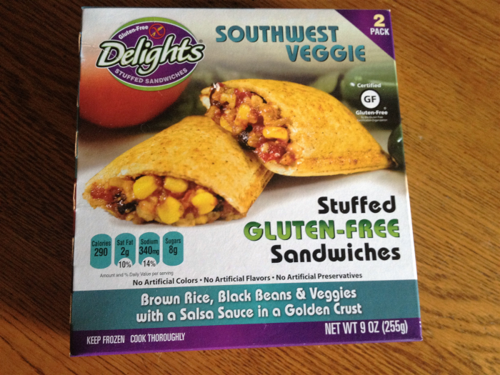 Delights Gluten Free Stuffed Sandwiches Southwest Veggie