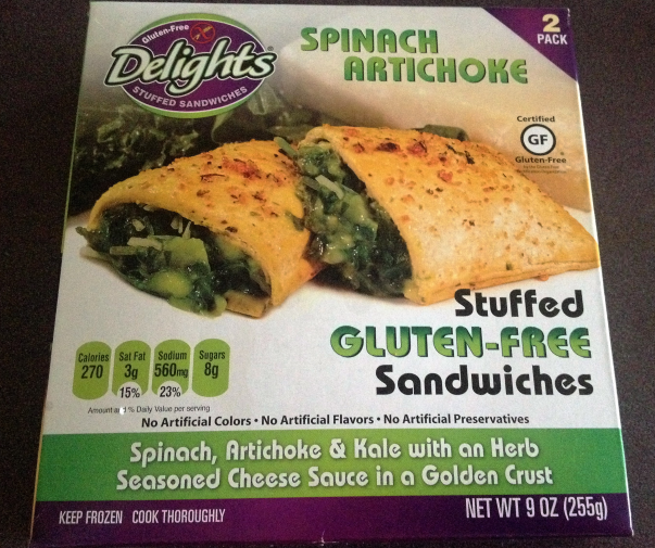 Delights Gluten Free Stuffed Sandwiches Spinach Artichoke