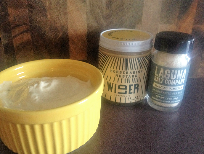 Tangy Horseradish Mustard Aioli with Horseradish Mustard and Malted Vinegar Sea Salt