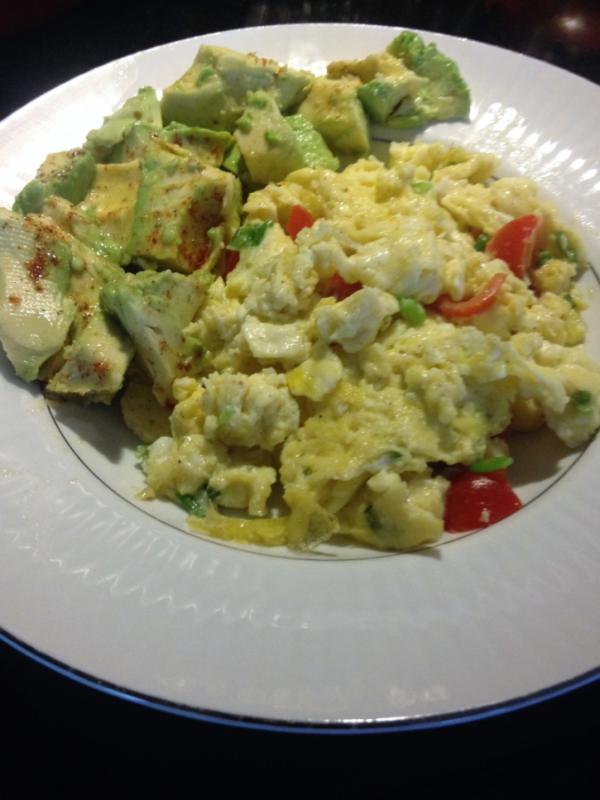 Scrambled Eggs and Avocado
