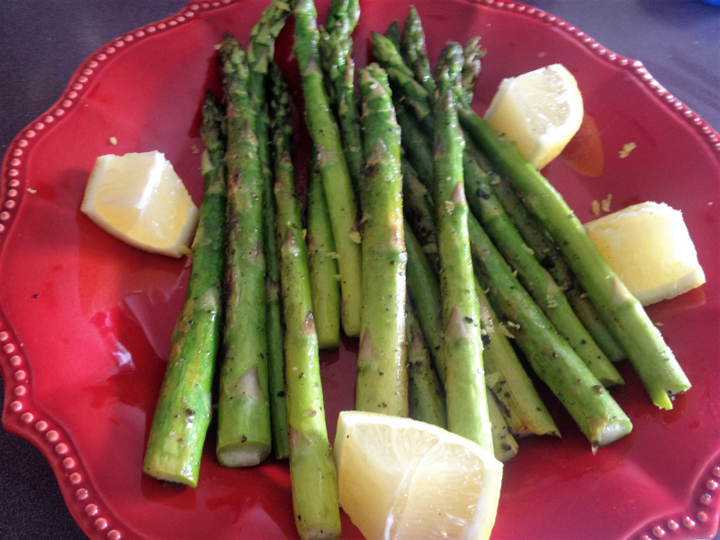 Roasted Asparagus with Lemons