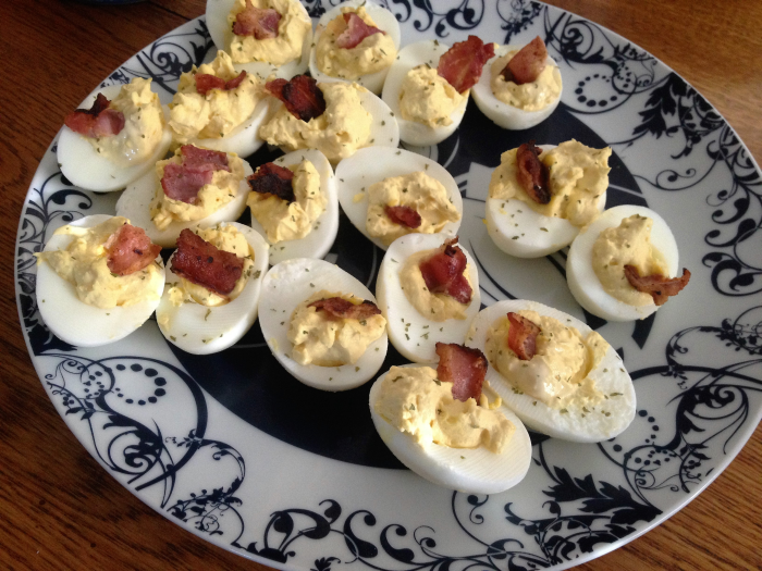 Bacon Deviled Eggs with Empire Bacon Mayo