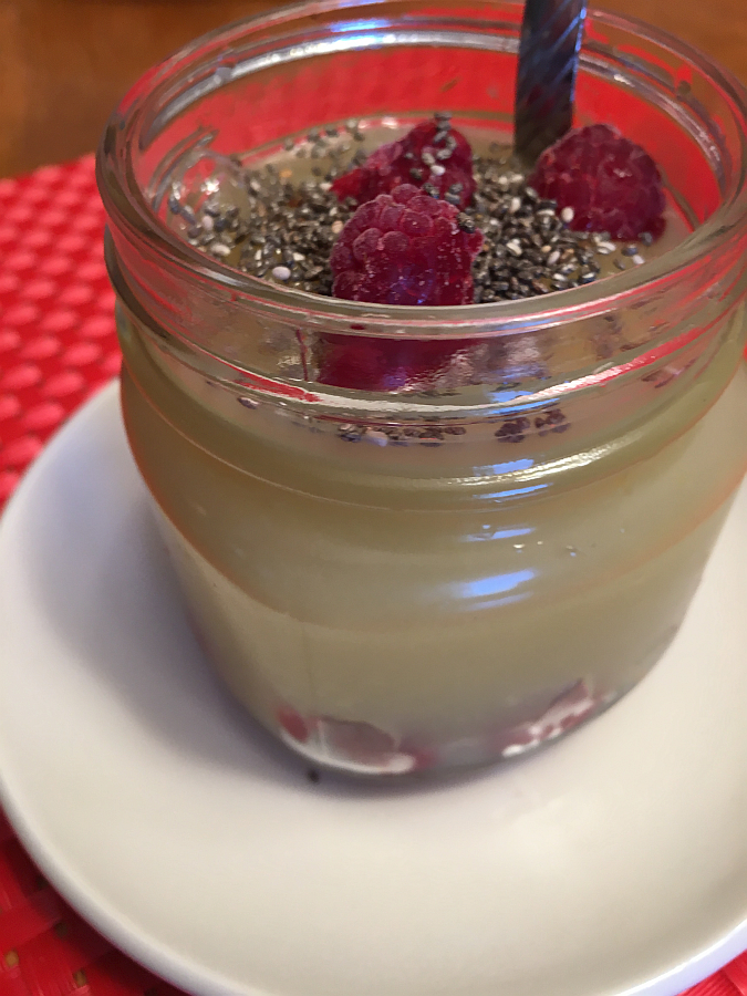 Raspberries, Applesauce and Chia Seeds