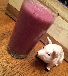 Raspberry Bliss Smoothie Made Extra Fast (and Tasty) with SlimFast
