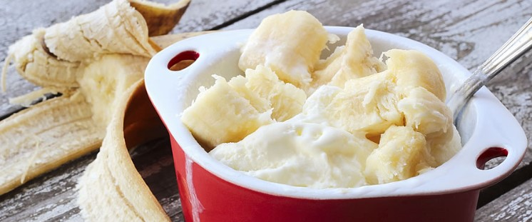 Banana Ice Cream without an Ice Cream Maker