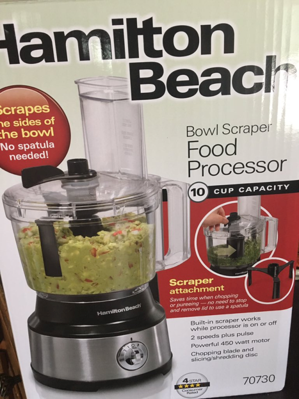 Hamilton Beach 10-Cup Food Processor, with Bowl Scraper
