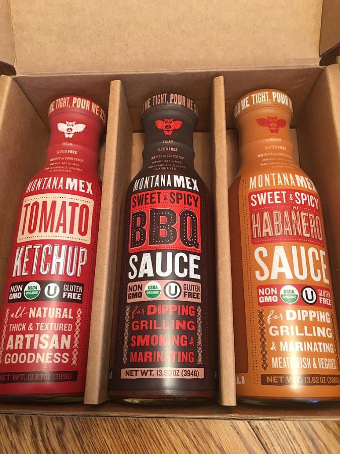 Montana Mex Tomato Ketchup, BBQ Sauce, and Habanero Sauce