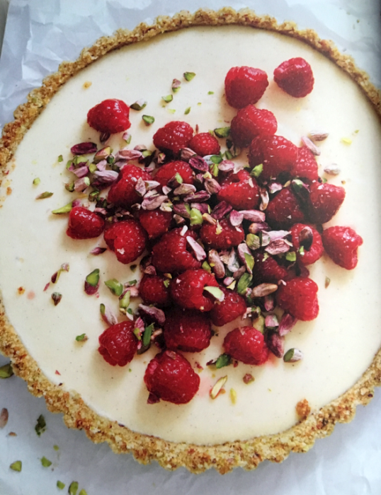 Raspberry Cream Tart with Pistachios - Gluten Free For Good