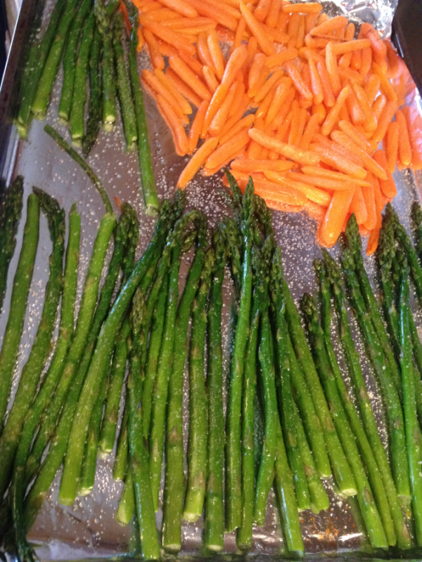 Roasted Asparagus and Carrots with Montana Mex Avocado Oil