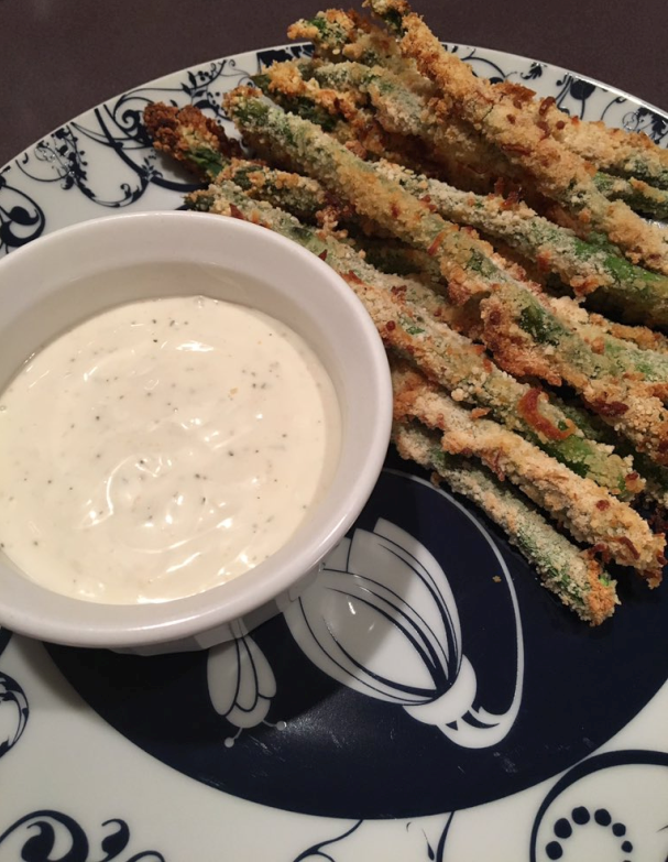 Asparagus Fries - A Gluten-Free Recipe from Gluten-Free Small Bites by Nicole Hunn