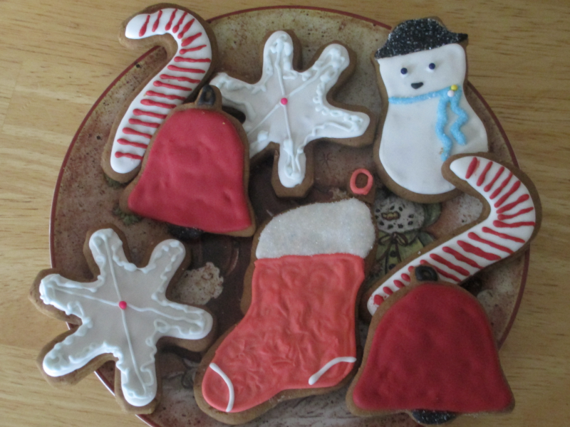 Iced Cut Out Christmas Cookies