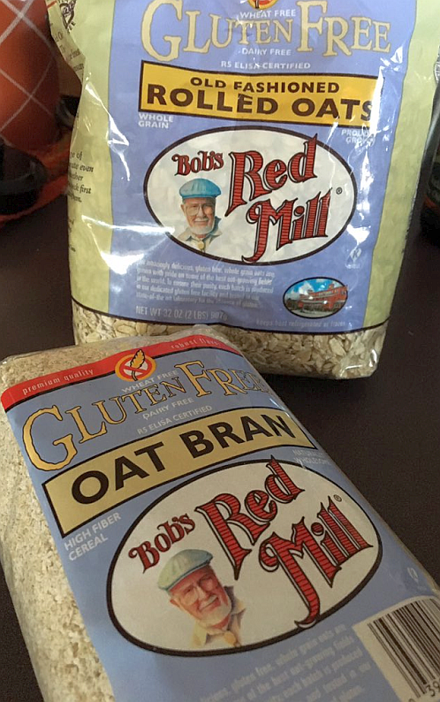 Bob's Red Mill Gluten Free Oatmeal and Oat Bran